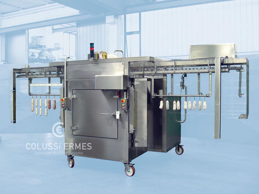 Mehlbeschichtungsanlage für Wurstwaren Colussi Ermes