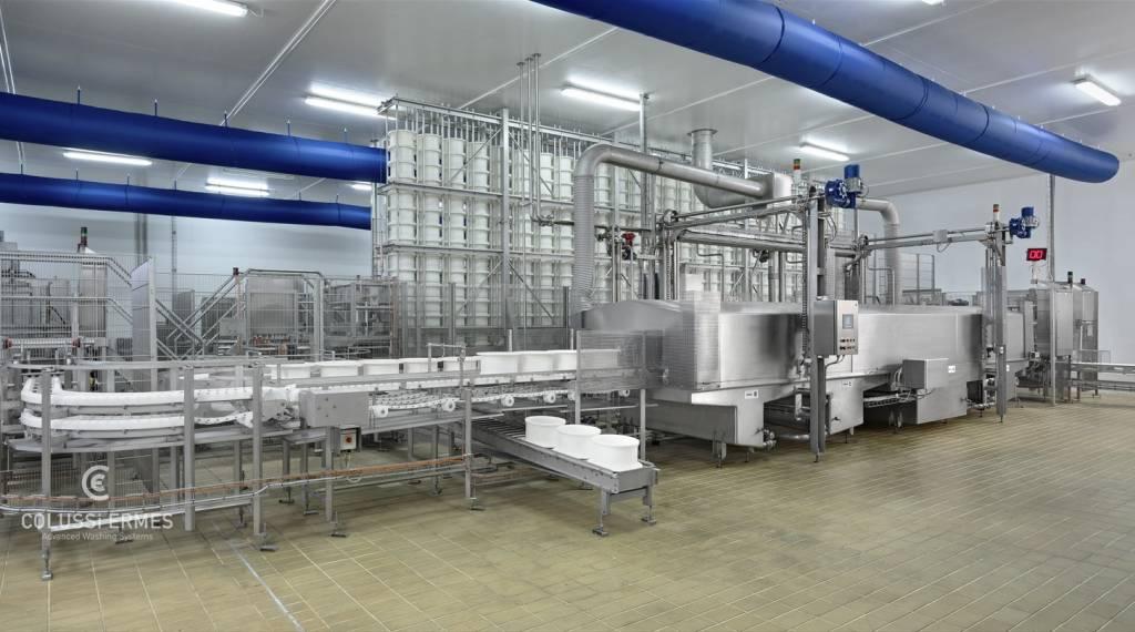 Käse-Blockformenwaschanlage