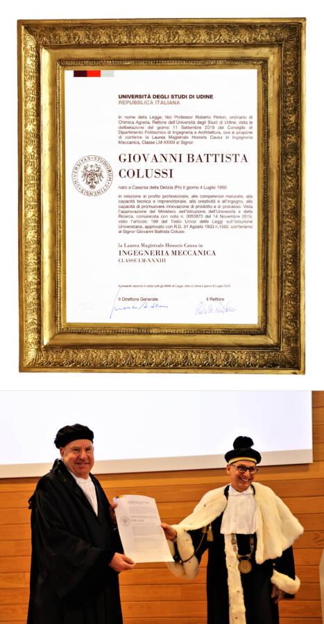 Giovanni Battista Colussi Maschinenbauingenieur Honoris Causa