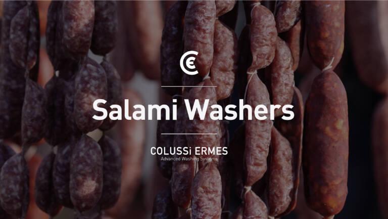 Nach Maß angefertigte Salamiwasch- und abblasmaschinen, um das Produkt zu konservieren und seine hochwertige Qualität unverändert beizubehalten